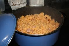 Arroz Con Salchichas (Vienna Sausages) from Food.com: Make this recipe along with red beans and some sweet plantains on the side. Yuuuuummm! From elboricua.com