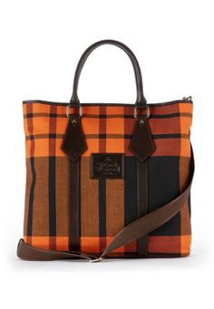 Vivienne Westwood Man collection Tartan Bag no.13377 in Black, via viviennewestwood.co.uk