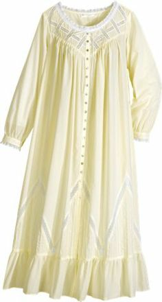 Shop sleepwear, apparel, bedding and food at The Vermont Country Store. Dress Neck Designs, Blouse Designs, Night Gown Dress, Cotton Nighties, Nightgown Pattern, Moonlight Sonata, Pajama Outfits, Kurta Designs Women, Apron Dress