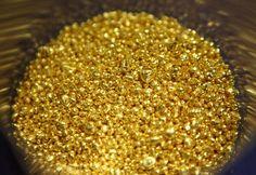 طلا دانه های خالص که استفاده های مختلفی در جواهرسازی دارند