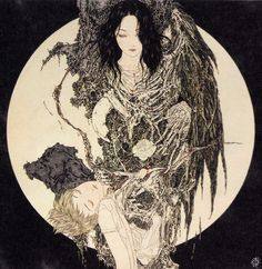 The paintings of Takato Yamamoto have a vicious beauty; their stunning detail is akin to the Ukiyo-e woodblock prints of the 18th century that initially influenced his work, but Yamamoto