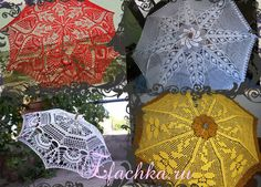 Any parasol for summer hot day? One? Another one? No - 35 crochet charts.  Crochet parasol!  Enjoy!