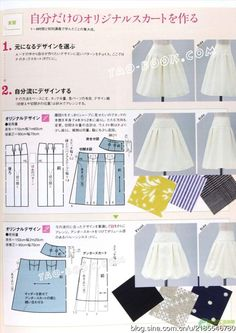 Amazing Sewing Patterns Clone Your Clothes Ideas. Enchanting Sewing Patterns Clone Your Clothes Ideas. Japanese Sewing Patterns, Skirt Patterns Sewing, Clothing Patterns, Fashion Sewing, Diy Fashion, Sewing Clothes, Diy Clothes, Tao, Circle Skirt Tutorial