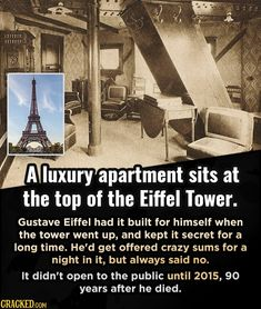 These dusty old landmarks are hiding some seriously cool Easter eggs. Famous Landmarks, Famous Places, Gustave Eiffel, Hidden Rooms, Famous Words, You Know Where, Open Book, Weird World, Movies Showing