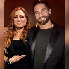 "WWE Superstars Seth Rollins (Colby Lopez) with his girlfriend ""The Man"" Becky Lynch (Rebecca Quin). Wwe Seth Rollins, Seth Freakin Rollins, Wwe Pictures, Wwe Photos, Becky Wwe, Wwe Superstar Roman Reigns, Wwe Couples, Catch, Nxt Divas"