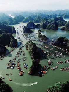 Less than an hour cruise from the nearest ferry and at the gateway to the 3 major bays in the Gulf of Tonkin: Hạ Long, Lan Hạ and Bái Tử Long Bay, Cat Ba Archipelago is a definition of nature's playing favorite! The Archipelago consists over 350 islands, with Cat Ba National Park - a UNESCO Biosphere Reserve Area - occupies 80% of the biggest island. Hiding in between the rocks are two of the oldest fishing villages in Vietnam. The archipelago is on its own way to become a UNESCO World… Cat Ba Island, Big Island, Cat Ba Archipelago, Definition Of Nature, Bai Tu Long Bay, Beautiful Vietnam, Ha Long, Bays, Fishing Villages