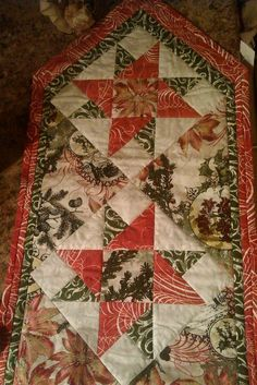 Quilted table runner. Like this one for a Christmas idea