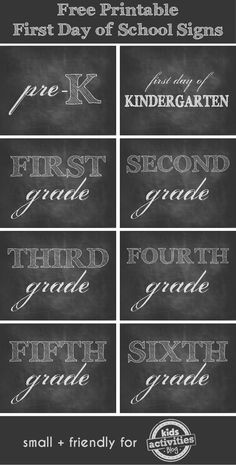 Free Printable First Day of School Signs - Kids Activities Blog