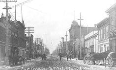 c1907 Main Street, Street View, Niagara Region, St Catharines, Original Image, Old Photos, Ontario, New York Skyline