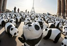 1,600 pandas in Bordeaux, France