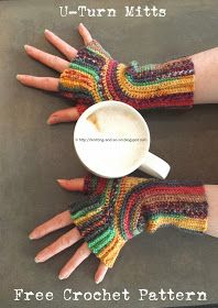 Free Crochet Pattern: U-Turn Mitts