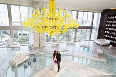 Photo: Tom Couture Weddings Dress & Veil: Custom Galia Lahav Floral: Rodri Creations Wedding Coordinator: Catalan Productions Venue: Viceroy Miami #modernbride #modernwedding #miamiwedding #modernluxury