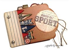 Try this All Star Good ol' Sport Mini Album printable project sheet #graphic45 #projectsheets #tutorials