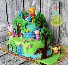 Дневник krisdekorator – BabyBlog.ru - Babyblog.ru Winnie The Pooh Cake, Winnie The Pooh Birthday, Winnie The Pooh Friends, Baby 1st Birthday, First Birthday Cakes, Disney Winnie The Pooh, Boy Birthday Parties, Cake Paris, Friends Cake