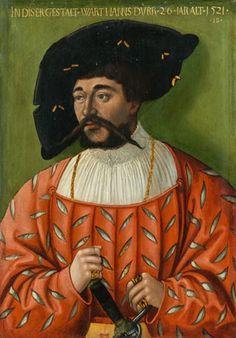 Hans Brosamer - Portrait of Hans Durr, 1521, oil...