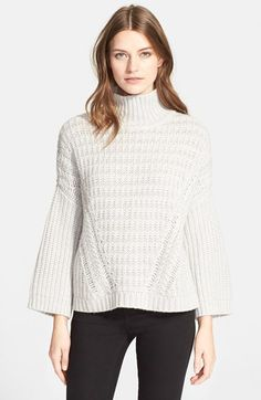 autumn cashmere Shaker Stitch Mock Neck Sweater available at #Nordstrom Love this but maybe in black or navy.