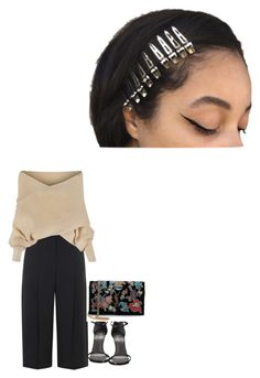 """""""Untitled #281"""" by faridahammouda ❤ liked on Polyvore featuring Topshop, Stuart Weitzman and Yves Saint Laurent"""