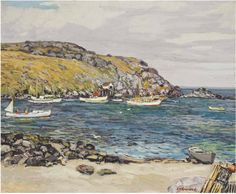 """Monhegan Fishing Boats,"" Edward Willis Redfield, 1928, oil on canvas, 26 x 31 ¾"", private collection."