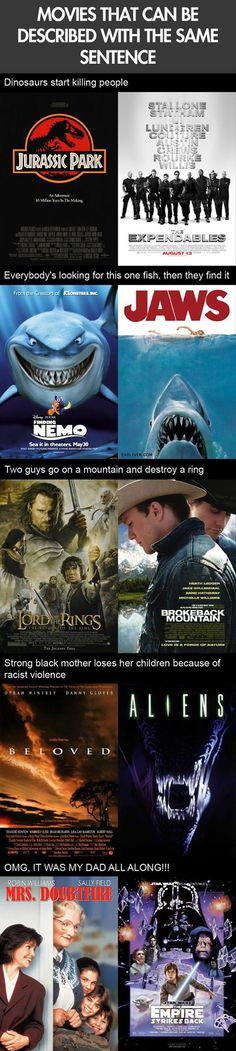 Movies That Can Be Described With The Same Sentence.