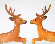 Vintage 1960s Plastic Reindeer from Cedar Run Vintage