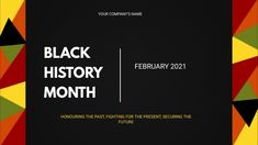 Customize this design with your video, photos and text. Easy to use online tools with thousands of stock photos, clipart and effects. Free downloads, great for printing and sharing online. Twitch Banner. Tags: black history month, black history month 2021, black history month flyer, black history month posters, black history month with biden harris, Black History Month, Black Friday , Black Friday Poster Templates, Flyer Template, Share Online, Free Downloads, Social Media Graphics, Got Print, Black History Month, Social Issues, Company Names