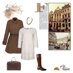Casual In Lace by minni on Polyvore featuring polyvore, fashion, style, Benetton, ALDO, WALL, Parfois, Spy Optic, KING, clothing, aldo, bag, gold, sheinside.com, boots, lace dress, white, brown, jewelry, city life, necklace, parfois, photo, coat and text