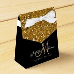 Love this! Gold Glitter Elegant Wedding ceremony Favor Field