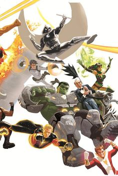 Panel 8- Moon Knight, Hulk, Starfire