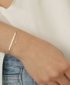 Paired up—our two favorite diamond bracelets, worn together.