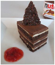 ... with praline chocolate crunch, nut ganache, and a hazelnut mousse