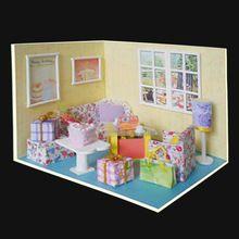 Dekoration Handwerk DIY Puppenhaus Holz Puppe Häuser Miniatur Diy Puppenhaus  Möbel Kit Zimmer LED Leuchten Geschenk V 007(China (Mainland))   Pinterest  ...