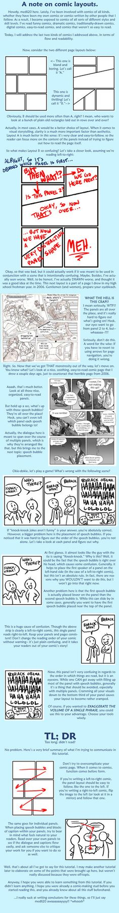 Tutorial: comic layouts by =medli20 on deviantART
