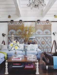 Interior barn doors in Ozzy & Sharon Osbourne's California home. Find your next salvage door at Renaissance Consignment & Marketplace at 6801 Cahaba Valley Road, Birmingham, AL 35242. Can't stop by? Give us a call at 205.980.4471. .