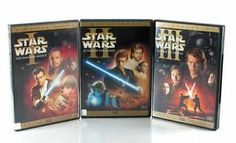 STAR WARS Episodes 1,2,3 each has 2-Discs Widescreen + Lost in Space DVD