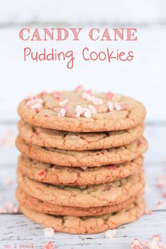 Peppermint Crunch Candy Cane Pudding Cookies