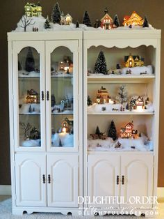 Delightful Order: My Snow Village Christmas Decor Gets a New Home