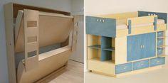 Beliche dobrável para quartos pequenos  - BricoDecoracao.com