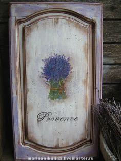 """Купить """"Прованс"""" Интерьерное панно - панно, прованс, Декор, Декупаж, сиреневый, лаванда, лавандовый, дерево"""
