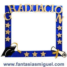 Proyectos |Super mega marco graduación azul oro