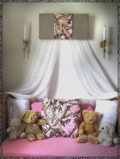 """Bedroom Realtree Camouflage Mossy Oak PINK canopy Crib teester Girls nursery BuRLAP Cammo Baby HunTing WHITE sheer curtains Bed So Zoey Boutique SaLe. Handmade Burlap custom REALTREE/Mossy Oak bedroom/nursery canopy. We are excited to be expanding our home decor selection NEW creations. Offered in 24"""" or 30"""". The canopy in the listing (shown in first photo) is 24"""" over a twin/full-crib sized bed. MANY OTHER fabric panels ARE AVAILABLE TOO!!! Boys colors also!!!! Bedding offered at WALMART..."""