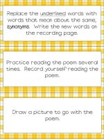 Freebies for Your Poetry Center as seen on Fifth Grade Flock  www.fifthgradeflo...