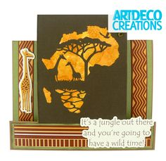 Safari Card From the Wild & Free collection- Step by Steps from CreateAndCraft