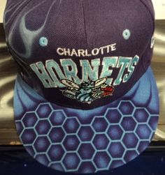$79 Charlotte #Hornets Custom Airbrushed #Strapback #Hat | Snakeskin #Strapbacks | Custom Handmade Clothing and Accessories