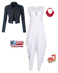 """Memorial Day Party Outfit"" by uptownsweats on Polyvore featuring Fairchild Baldwin, Marc Jacobs, LE3NO, jumpsuit, women, memorialday and uptownsweats"