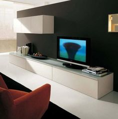 SMA STEP Contemporary Luxury Collection Wall Units and Entertainment Centers Contemporary Entertainment Center, Entertainment Center Wall Unit, Tv Stand Furniture, Unique Furniture, Contemporary Bedroom, Contemporary Furniture, Large Tv Stands, Italian Sofa, Beautiful Home Designs