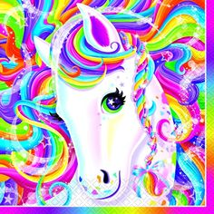 Rainbow Majesty has arrived! This Lisa Frank Lunch Napkin features Rainbow Majesty and her sparkly rainbow mane on 2-ply paper napkins. Add eye-popping color to your party with these beautiful napkins