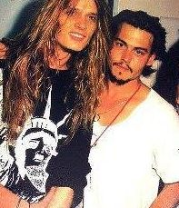 Sebastian Bach and Johnny Depp at the same time is almost too much for one girl to handle! Johnny Depp Fans, Here's Johnny, Johnny Depp Movies, Sebastian Bach, Skid Row Band, Love Band, Gq Magazine, Hollywood Glamour, Beautiful Men