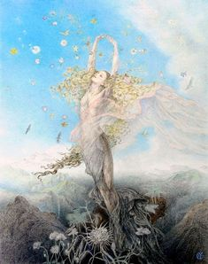 The Return of Persephone. Japanese illustrator Kinuko Craft