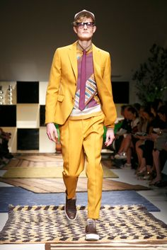 A look from the Salvatore Ferragamo Spring 2016 Menswear collection.