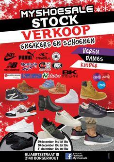 stockverkoop schoenen en sneakers -- Borgerhout -- 29/12-31/12
